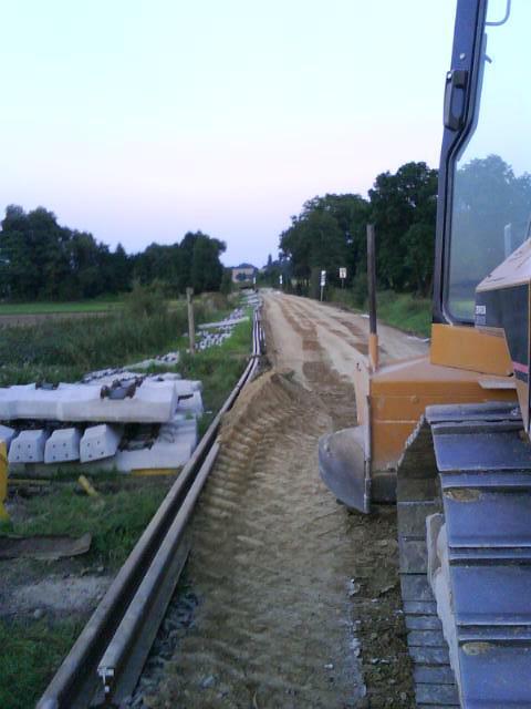 Umbau statt Ausbau: Neuer Untergrund Dorfen- Thann Matzbach 2010