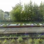 die Gleise liegen bereit- Gleiserneuerung in Hörlkofen im August 2011