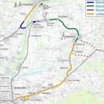 """Projekt """"Erdinger Ringschluss"""" mit Neufahrener Kurve und Walpertskirchener Spange; Quelle: Bayerisches Verkehrsministerium"""