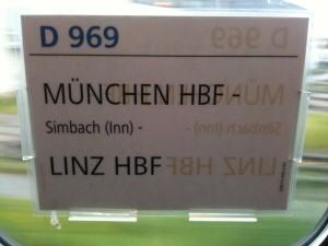 Aus für den Zug München- Mühldorf- Linz!