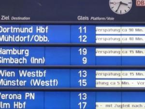 Verspätungen am Münchner Hauptbahnhof