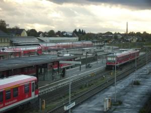 das Mühldorfer Dieselparadies der Südostbayern. Keine einzige Oberleitung, kein Strom!