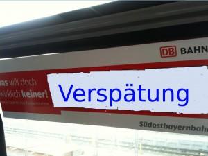 Verspätung Mühldorf- München wg. Baustelle Traunstein- Freilassing