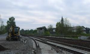 Ende des bisherigen 2. Gleises in Altmühldorf