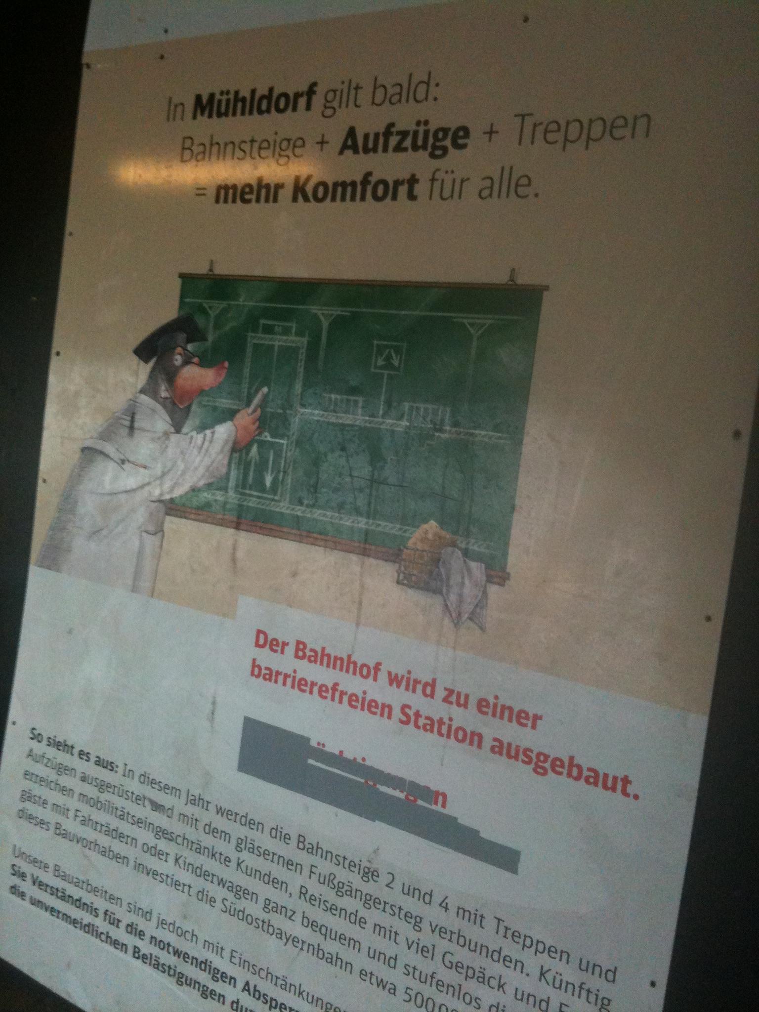 barrierefreier Umbau Bahnhof Mühldorf- WANN?