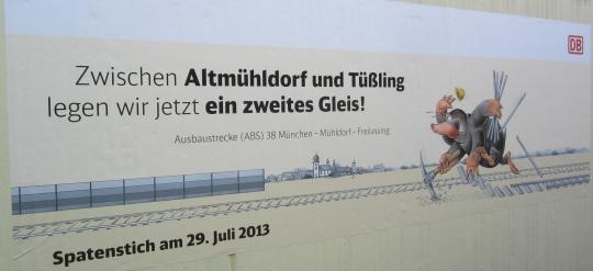 2- gleisiger Ausbau Altmühldorf- Mühldorf- Tüßling