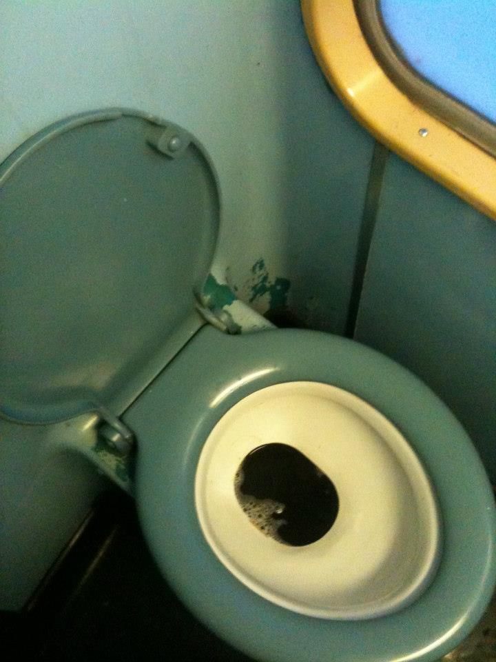 die alten WCs aus der Zeit des kalten Krieges bleiben bei 20% der Züge Standard