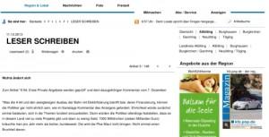 Leserbrief Alt- Neuöttinger Anzeiger: Nichts ändert sich