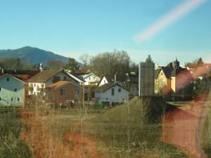Max Aichers Modell einer Lärmschutzwand auf der Bahnstrecke Freilassing- Salzburg